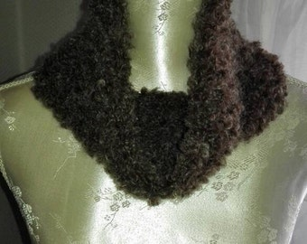 Winter scarf neck warmer scarf wool bouclé wool-super soft and warm-