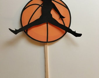 Cupcake Topper, basketball cupcake topper, jumping man cupcake topper, basketball cupcake topper, basketball decor, basketball party, party