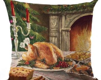 Celebrating Christmas with Santa Pillow Cushion