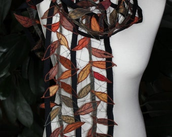 Autumn leaves, autumn leaves were the inspiration for this silk scarf