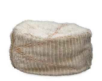 Large Azilal floor cushion NO.24 /Wool Pouf / Bean bag Wool Pouf / Moroccan Pouf