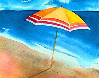 Beach umbrella - Print no. 1015