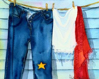 Acadian clothes line  - Print no. 9911