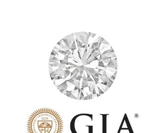 G I A Certified Round Cut Natural Loose Diamond 0.60 CT J Color I1 Clarity