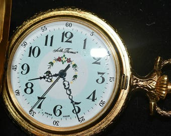 Seth Thomas Pocket Watch, Swiss Made