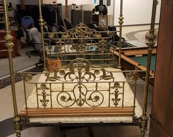 Incredible Queen Brass Canopy Bed!!!