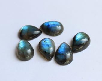 Natural pear shape Labradorite Cabochon Gemstone AAA All mm size available-7x10, 8x12, 9x13, 10x14, 12x16, 13x18, 15x20, 16x22, 18x25, 20x30