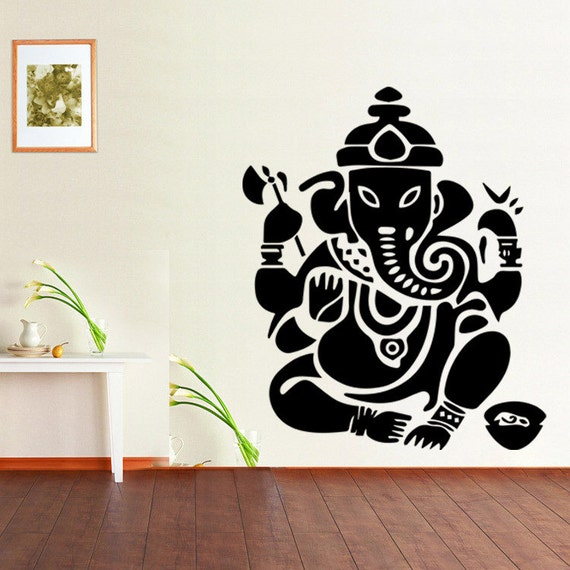Vinyl Wall Decal - Buddhism mandala wall decals India paper folded god ZhuTie course
