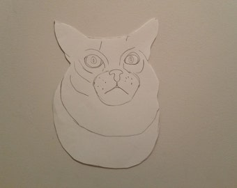 Personalised Cat Portrait Pattern 2
