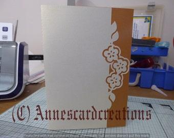 Flower over edge half fold card