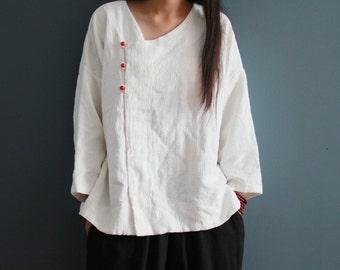 White linen shirt | Etsy