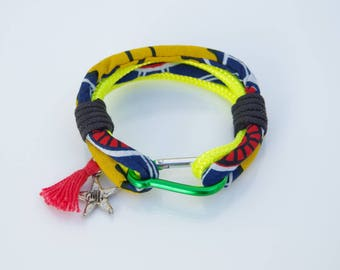 Woman wax and boat rope bracelet