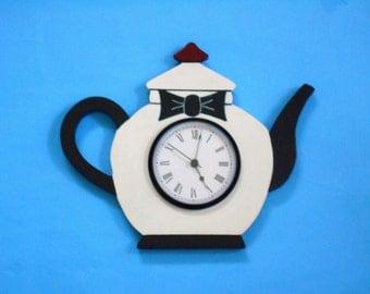 Tuxedo Teapot Wall Clock