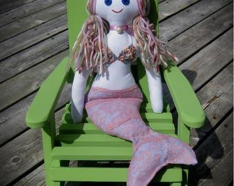 Hand made Mermaid Rag Doll