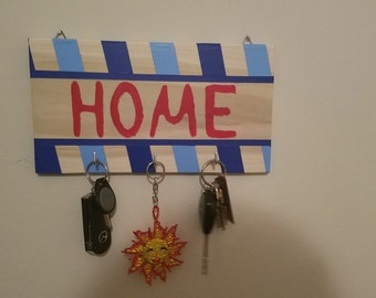 Decorative Wooden Key Ring Holder for Wall (Home)