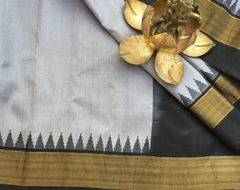Handwoven Gadwal Silk saree