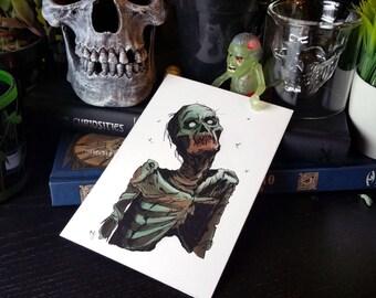 Zombie Inktober Print 4x6