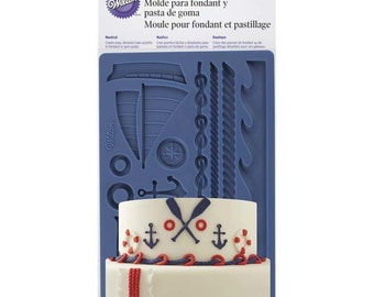 Nautical Sailor Fondant and Gum Paste Mold