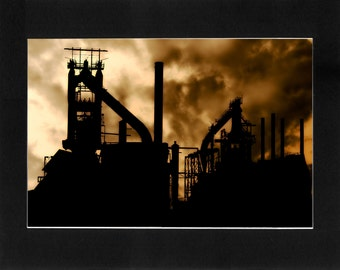 """Custom Matted Print 0108. """"PA Steel Mill"""" - Collectable Photographic Artwork. (11"""" x 14"""")"""