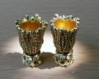 Miniature Dollhouse Vase, Two Vases, Dollhouse Accessories, Scale 1:12, Scale one inch, Scale miniature