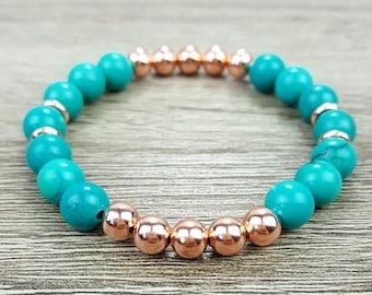 Turquoise & Rose Gold bracelet