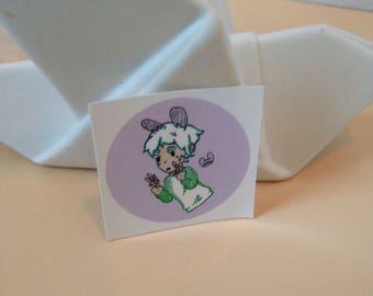 Pocky boy vinyl sticker, pocky sticker decal, round sticker pocky art, Kawaii stickers cute, laptop decal stickers vinyl, macbook decal mac