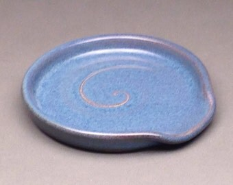 Denim Blue, Spoon Rest, Ceramic Spoon Rest, Pottery Spoon Rest, Spoon holder, Handmade Spoon rest, Kitchen Spoon holder