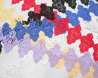 Regal Patch, Lace Trims, Cotton Lace, Embroidery Lace, Applique Embroidery - 1 meter