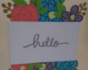 Hello Card, Just Because Card, Handmade Card, Vellum Card