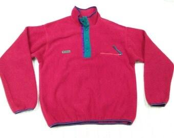 vintage COLUMBIA FLEECE JACKET sweatshirt size m made in usa