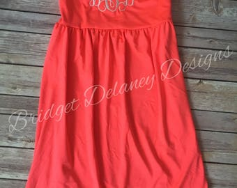 Monogrammed Swimsuit cover up dress