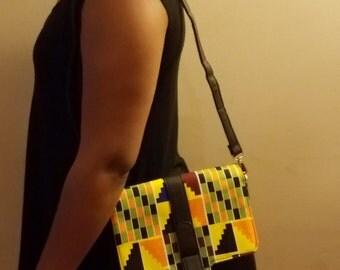 Kitenge Leather handbag