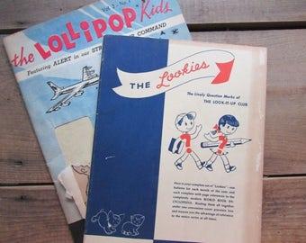 The Lookies Vintage Children's Magazine The Lollipop Kids Coloring Book