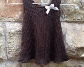 Torte: Chocolate Brown 100% Merino Wool Jumper Dress