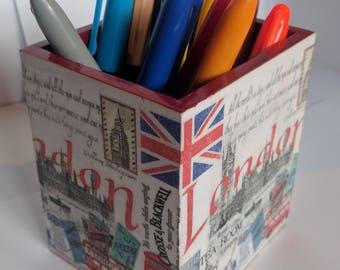 Pen Holder/Desk Tidy London Themed