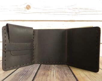 Leather Wallet - Leather Card Holder- Cowhide Wallet - Genuine Leather - Handmade