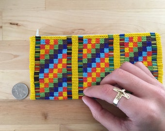 Handmade Colorful Beaded Pouch