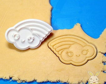 Cloud Rainbow Cookie Cutter and Stamp Set