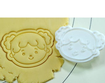 Girl Face Cookie Cutter and Stamp