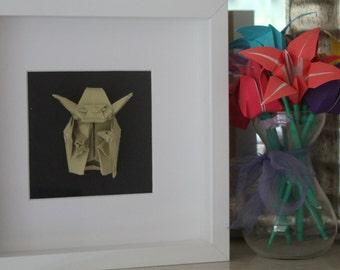 Origami Paper Yoda Star Wars Frame