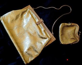 Magnificent vintage clutch Goldlamee