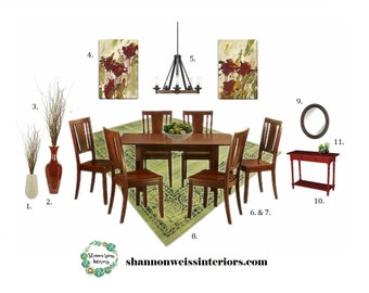 Dining Room e-Design / Affordable Interior Design Services