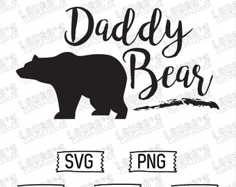 Daddy Bear SVG - Daddy SVG - Father's Day SVG - Dad Bear - Baby Bear Svg - Mommy Bear - Daddy and Me Cut Files - daddy and Me Outfits
