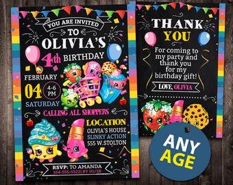 Shopkins Invitation, Shopkins Birthday Invitation, Shopkins, Shopkins Party, Shopkins Invite, Shopkins Printable