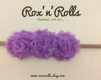 Baby, toddler, newborn, girls purple flower headband accessories