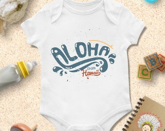 Hawaii baby etsy aloha from hawaii personalized baby bodysuit hawaii baby shower funny present for baby negle Gallery