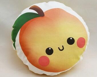 """Cute Peachy Peach 10"""" Cotton Pillow"""