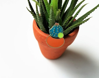 Cactus enamel pin, Enamel pin, lapel pin, pin badge, plant lover gift, plant lady gift, cactus lover accessories