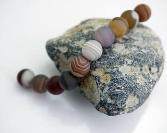 Bostswana Agate Beads Matte Beads Agate Beads 8mm Gemstone Beads (10) X252