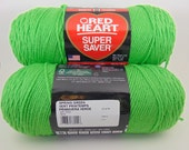 Spring Green -  Red Heart Super Saver yarn worsted weight - 1031